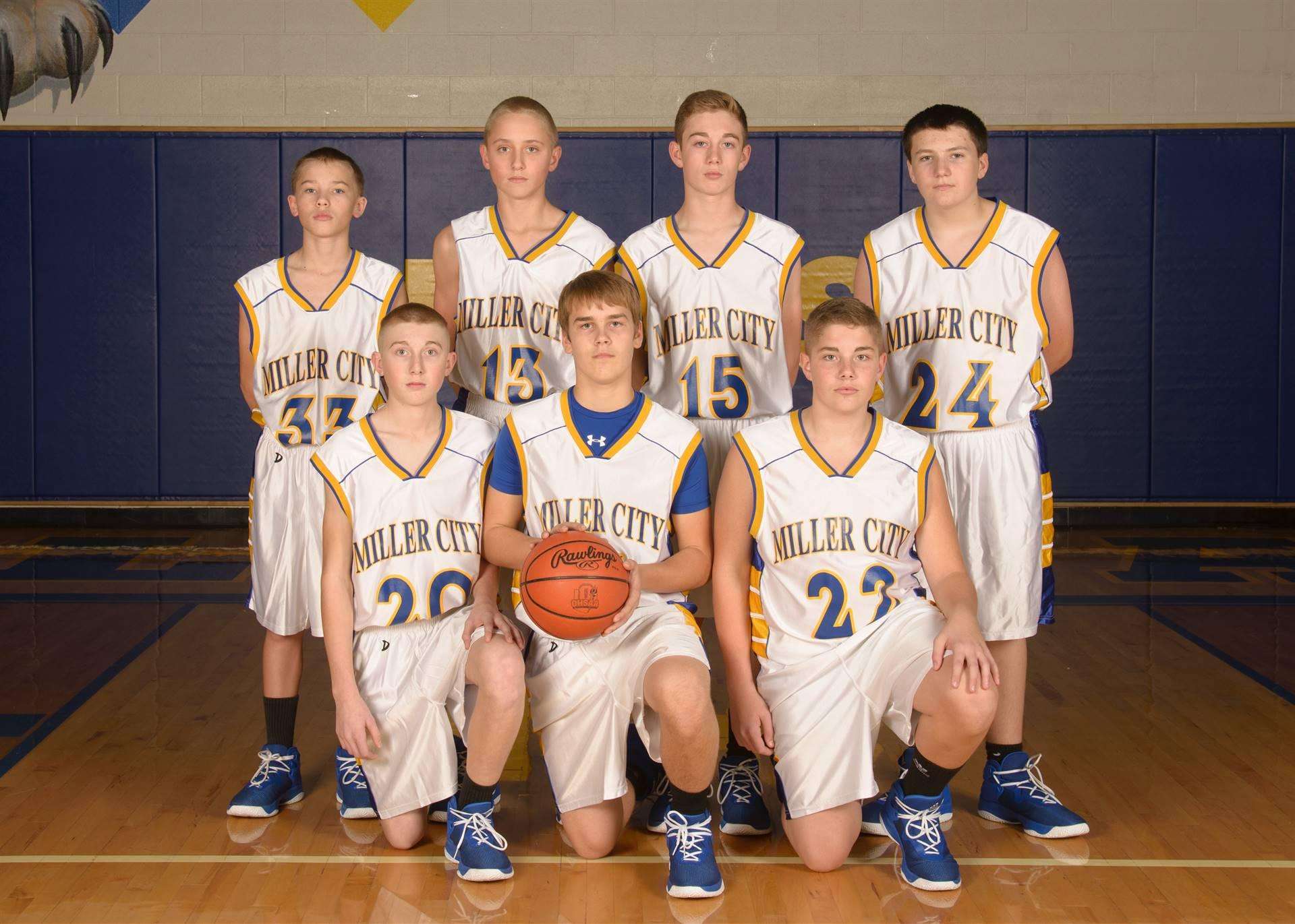 8th Grade Boys Basketball Team Photo