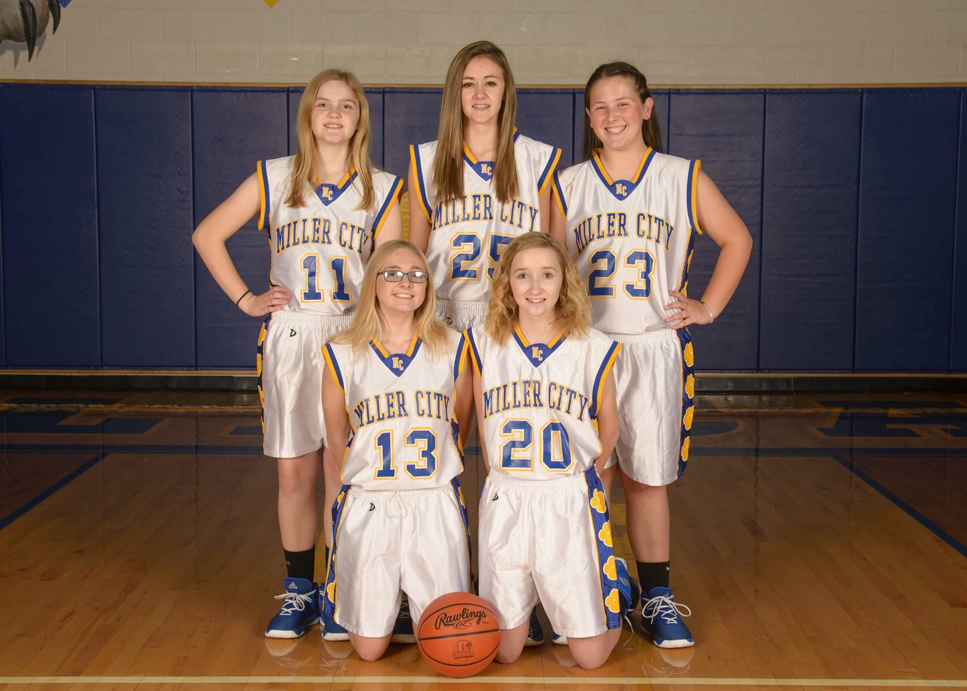 8th Grade Girls Basketball Team Photo